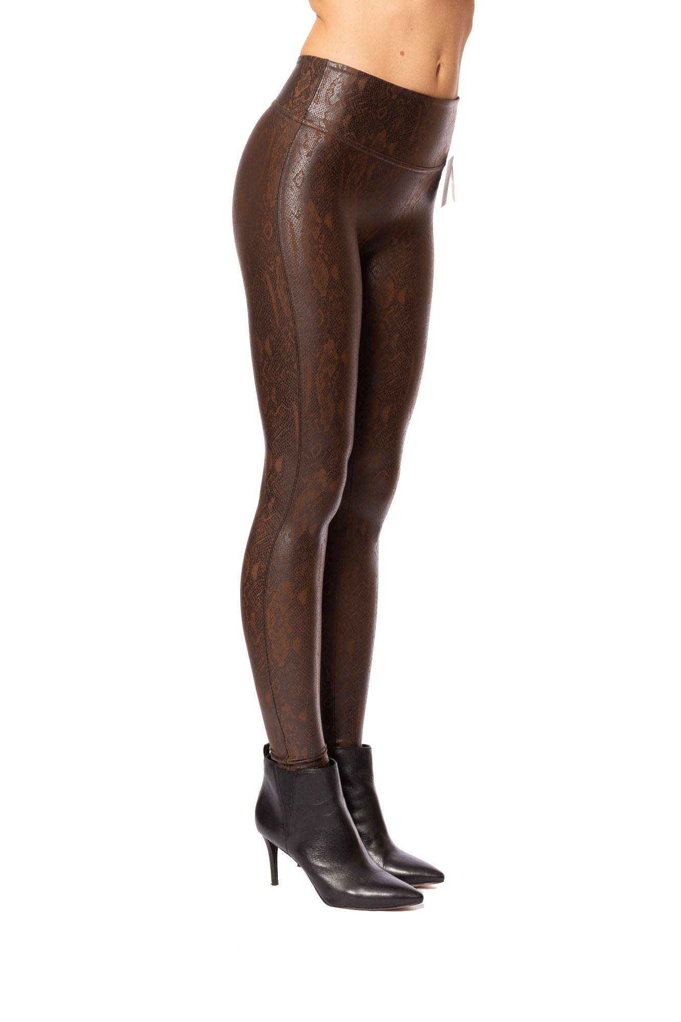 Spanx - Faux Leather Snakeskin Leggings (20265R, Brown Snake Skinn)