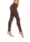Flat Waist Ankle Legging (Style W-452, Mocha) by Hard Tail Forever
