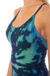 Freestyle Tank W/Bra (Style W-329, Tie-Dye EDS3) by Hard Tail Forever