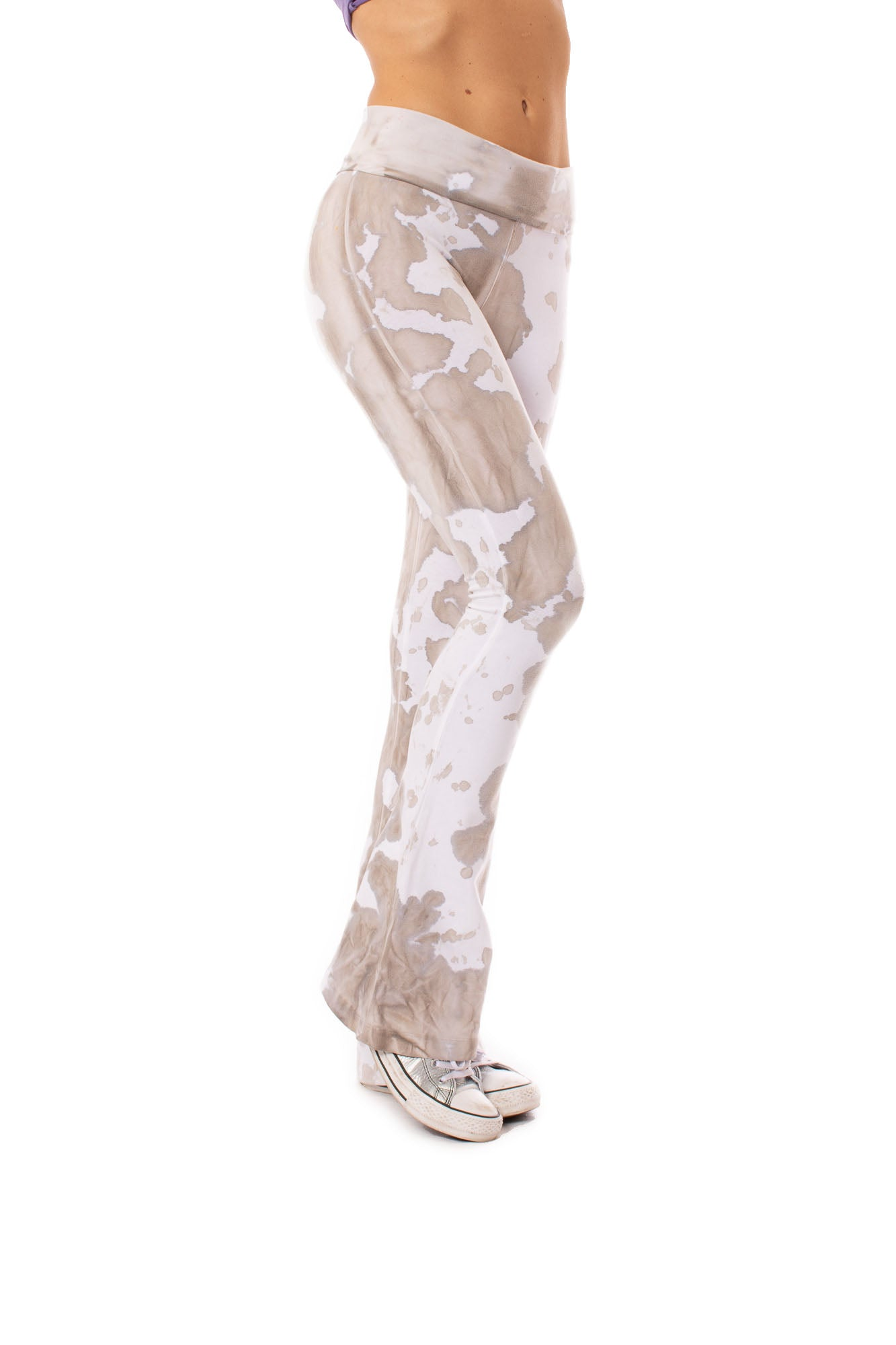 Hard Tail Forever - Contour Roll Down Boho Bell Bottom Flare Pant (W-598, Tie-Dye VCL1)