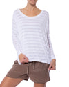 Hard Tail Forever - Stripe Jersey Slouchy T (HEN-02, White)