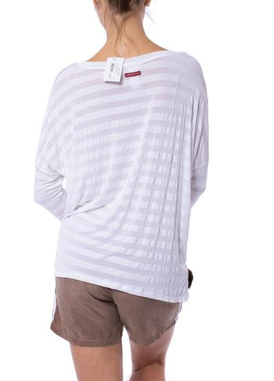 Hard Tail Forever - Stripe Jersey Slouchy T (HEN-02, White) alt view 2