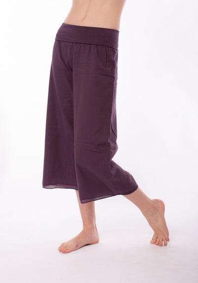 Double Layered Voile Roll Down Skipper (Style VL-37, Dark Plumb) by Hard Tail Forever alt view 1