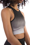 Fade to Black Bra (Style EC8102, Black) by Beyond Yoga