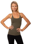 Hard Tail Forever - Freestyle Tank W/Bra (W-329, Olive)