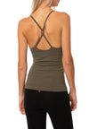 Hard Tail Forever - Freestyle Tank W/Bra (W-329, Olive) alt view 2