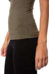 Hard Tail Forever - Freestyle Tank W/Bra (W-329, Olive) alt view 4