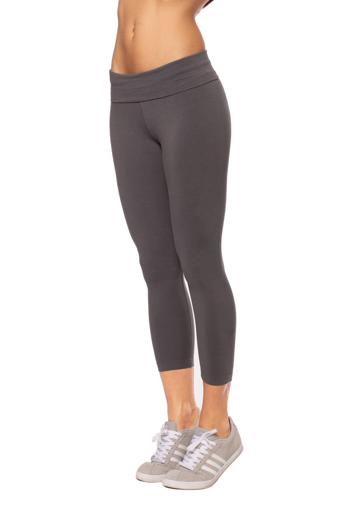 Hard Tail Forever - Roll Down Layered Legging (588, Earl Grey)