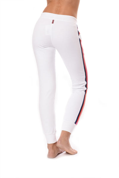Sunset Stripe Jogger (Style CFT-09, White w/Stripes) by Hard Tail Forever alt view 1
