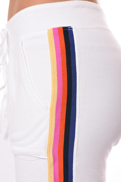 Sunset Stripe Jogger (Style CFT-09, White w/Stripes) by Hard Tail Forever alt view 4