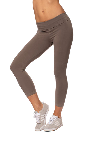 Hard Tail Forever - Roll Down Layered Legging (588, Twig)