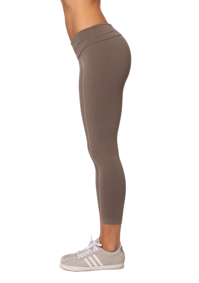 Hard Tail Forever - Roll Down Layered Legging (588, Twig) alt view 1