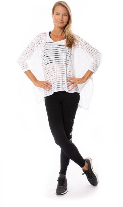 Hard Tail Forever - Oversize Raglan Holey Jersey  (HOL-04, White) alt view 7