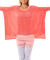 Hard Tail Forever - Holey Jersey Over Sized Raglan (HOL-04, Coral) alt view 6