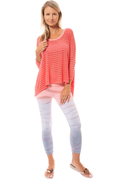 Hard Tail Forever - Holey Jersey Over Sized Raglan (HOL-04, Coral) alt view 7