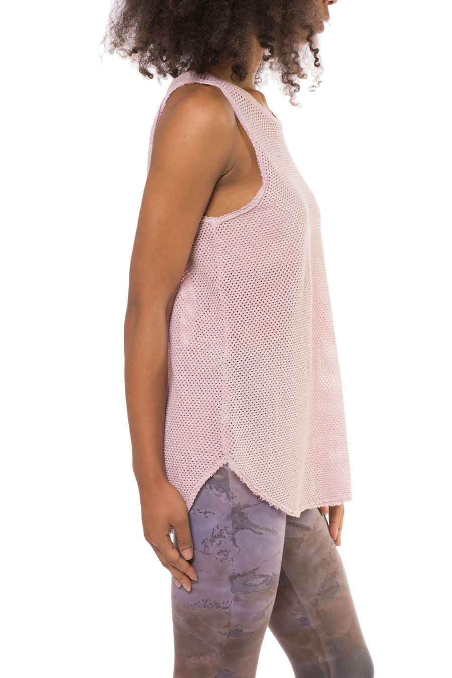 Canal Tank (Style ERWKN06, Blush) by Electric & Rose