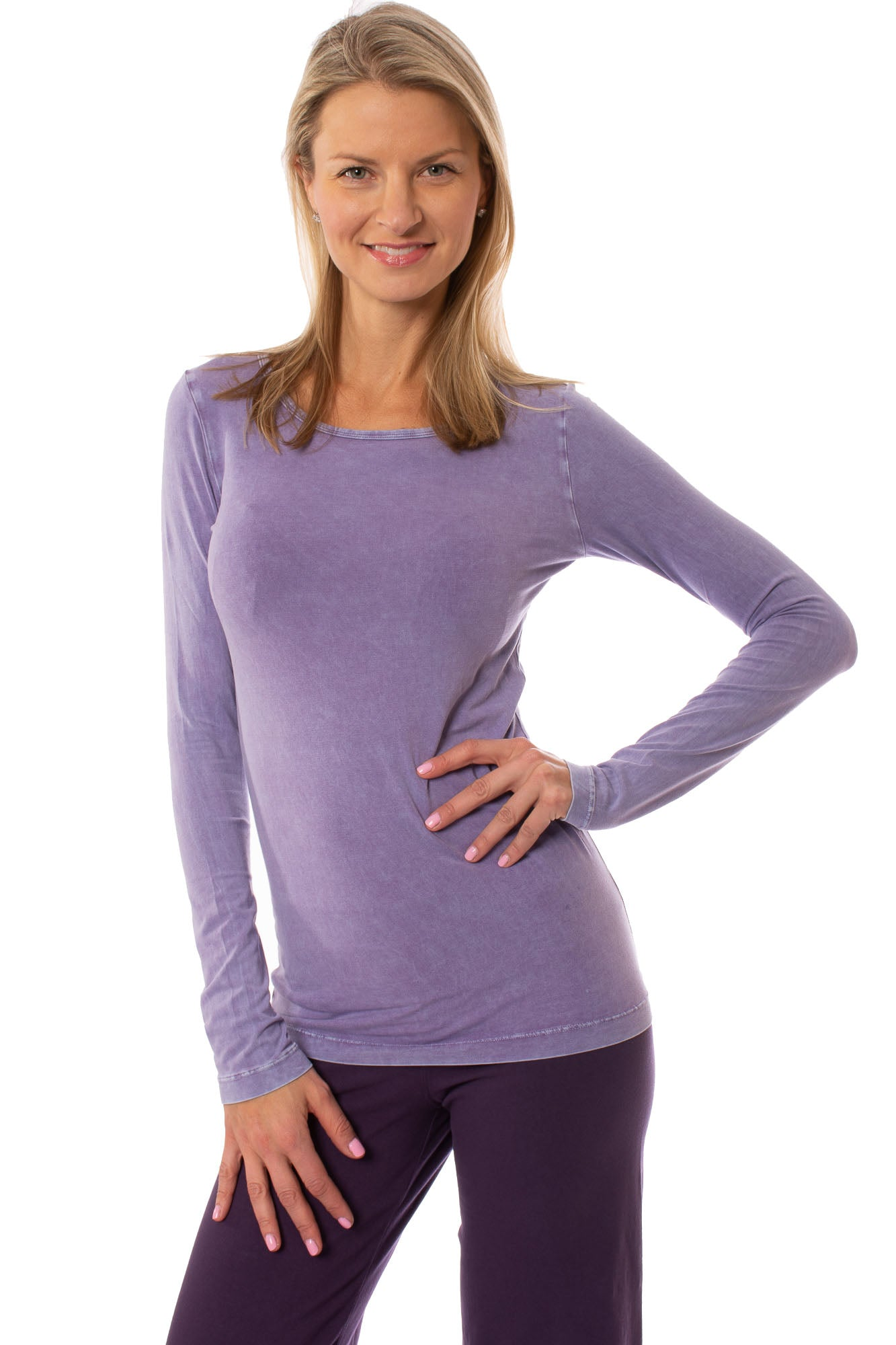 Hard Tail Forever - Supima/Lycra Long Sleeve Scoop Tee (SL-69, Mineral Wash MW22)