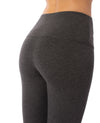 Lysse - High Waist Front Seam Ponte Legging (10-1519-M2, Charcoal) alt view 3