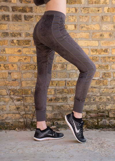 Velour Skinny Jogger (Style PANE-16, Owl) by Hard Tail Forever