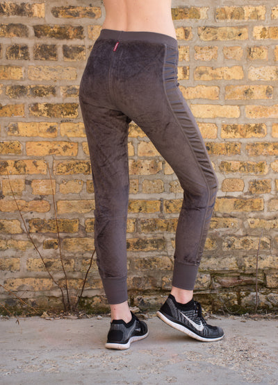 Velour Skinny Jogger (Style PANE-16, Owl) by Hard Tail Forever alt view 1