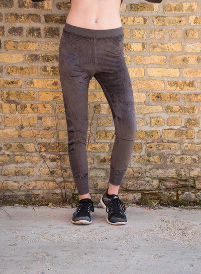 Velour Skinny Jogger (Style PANE-16, Owl) by Hard Tail Forever alt view 4