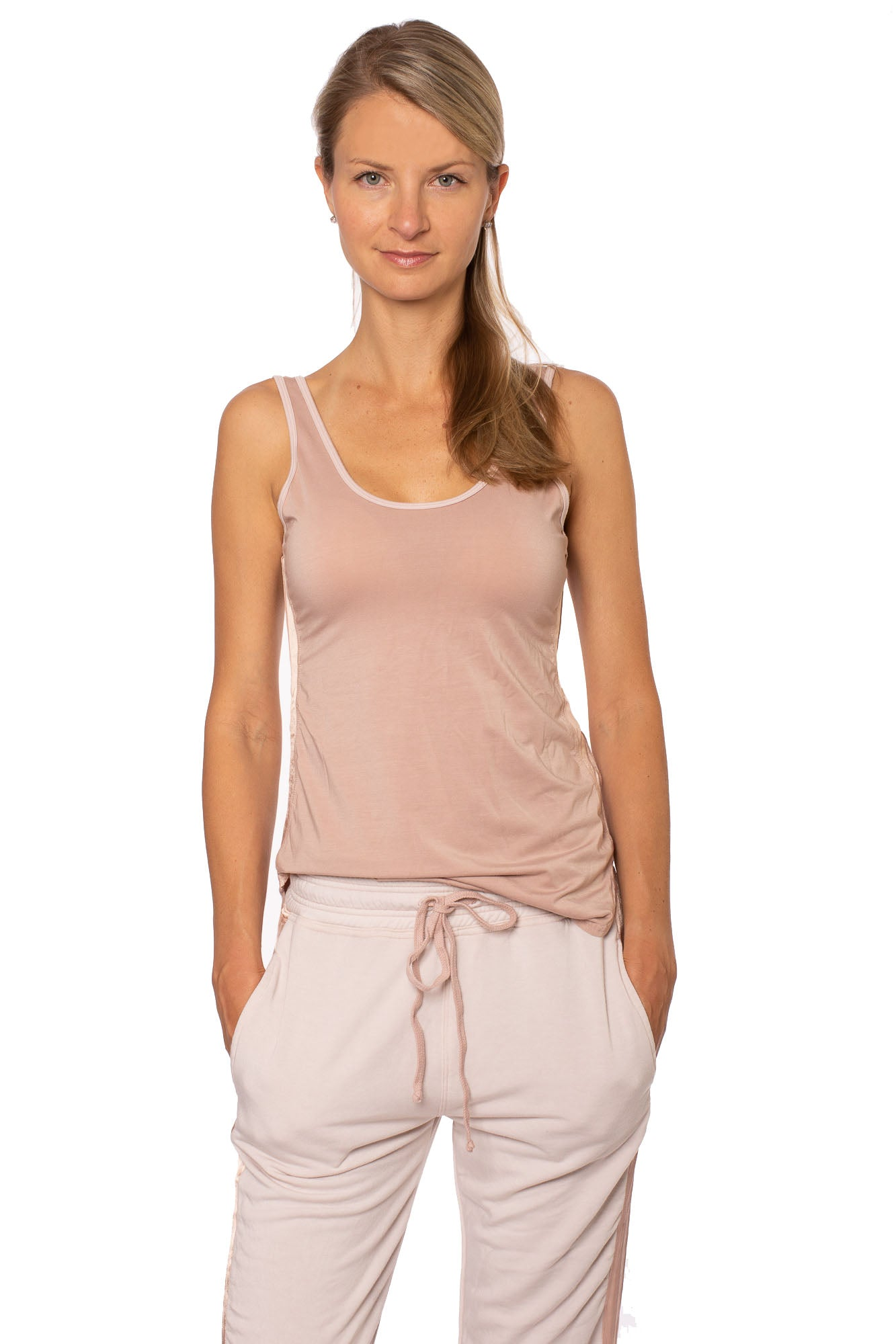 Hard Tail Forever - Silky Side Stripe Tank (SILK-03, Crushed Rose)