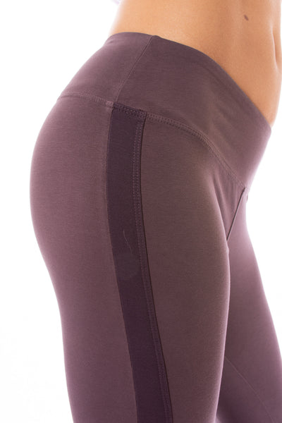 Hard Tail Forever - Cotton Lycra High Waist Racer Stripe Capri (W-938, Night) alt view 3