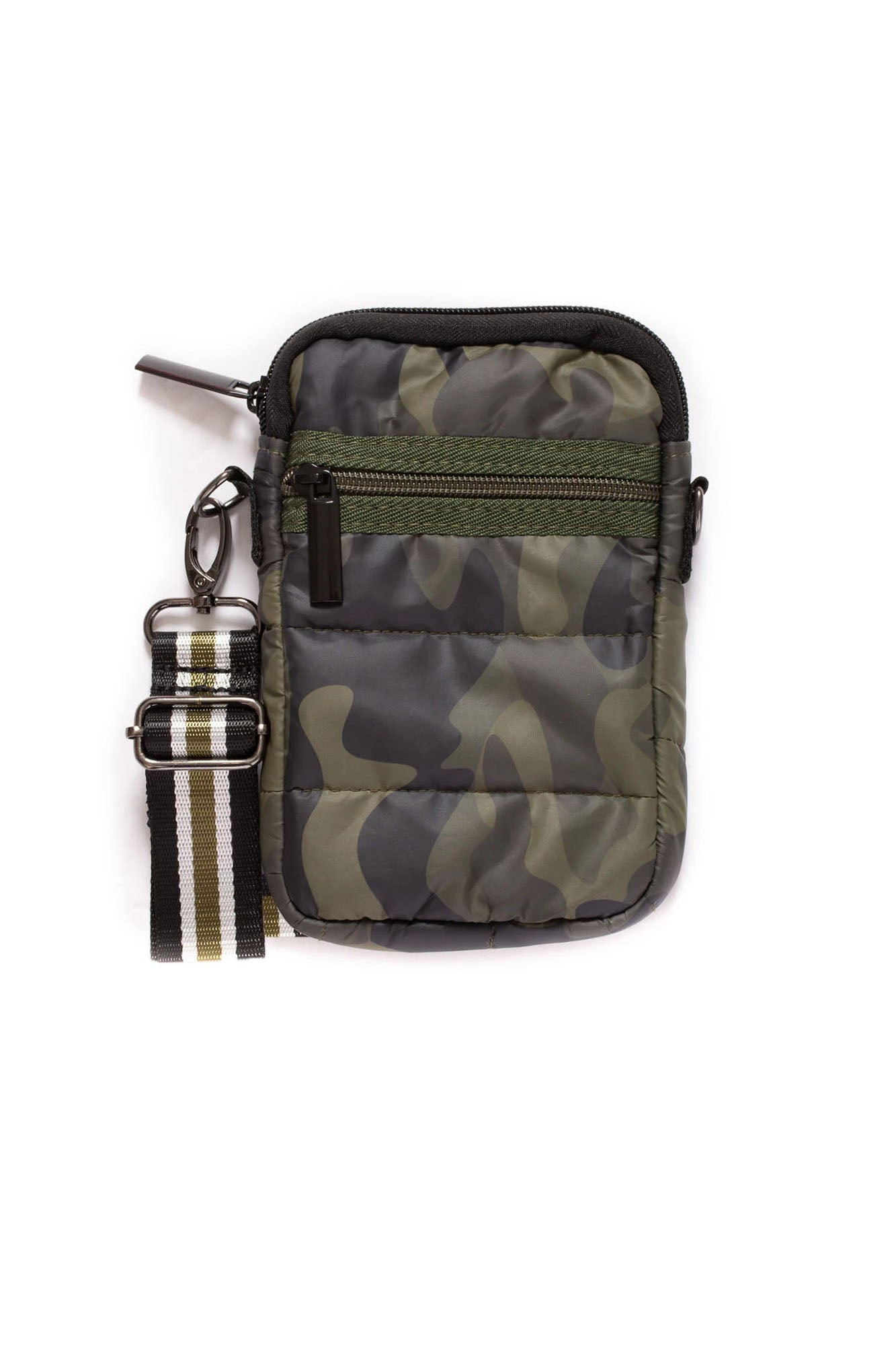 Haute Shore - Casey Sarg Neoprene Cell Phone Case (SARG, Green Camo w/Black, Cream, Green Stripe)