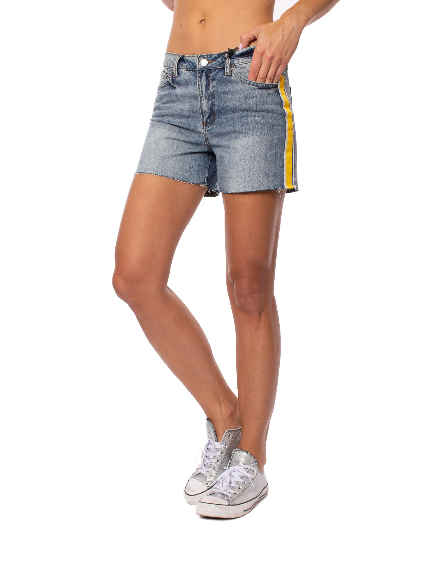 Velvet Heart - Dylan Stripe Short (DTB-7295N, Denim)