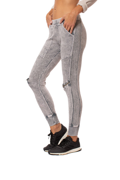 Hard Tail Forever - Zipp Knee Mineral Wash Jogger (DL-41, Mineral Wash MW11)