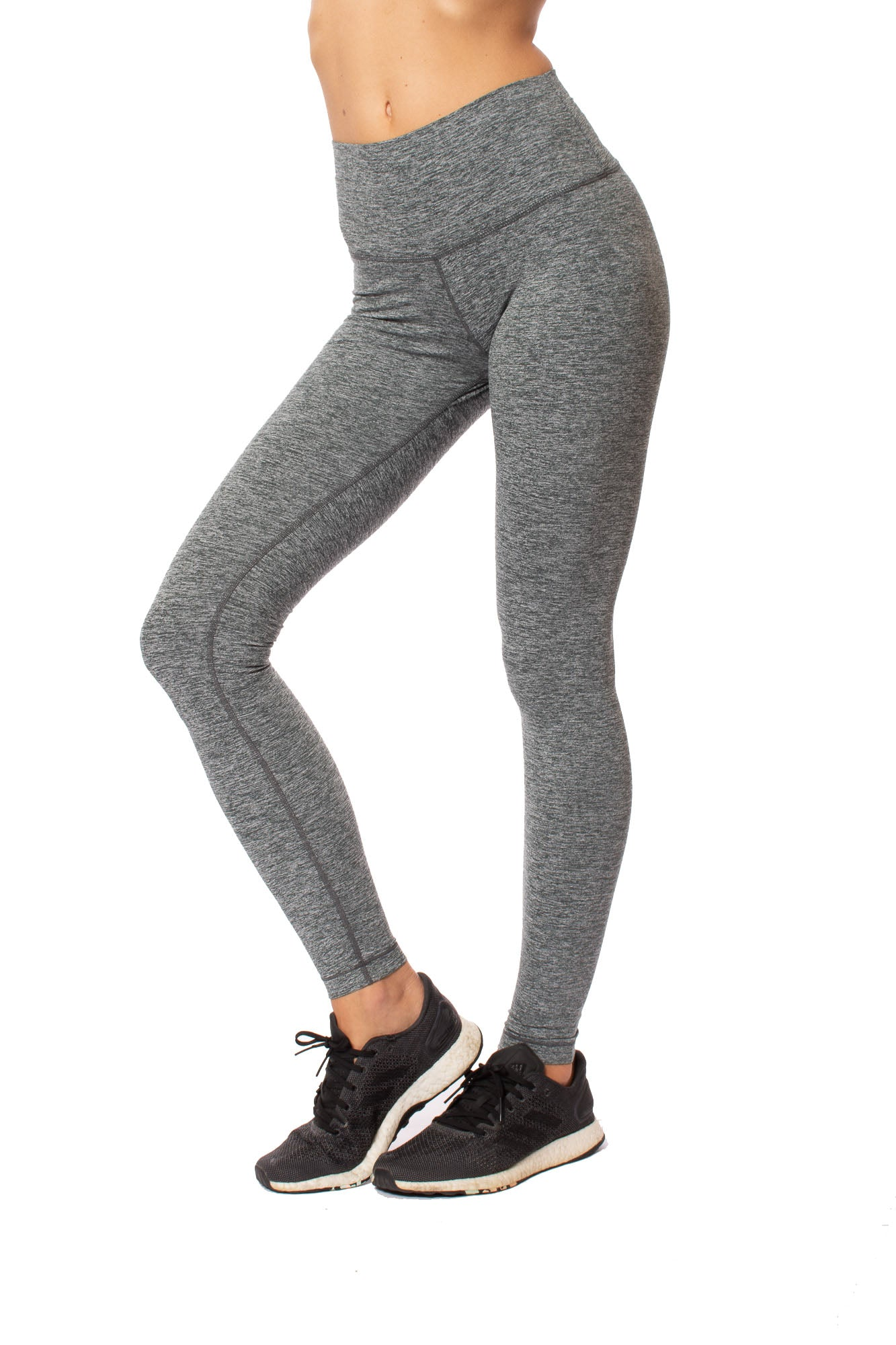 Lolë - Half Moon High Waist Legging (LSW3284, Foxhound Heather Gray)