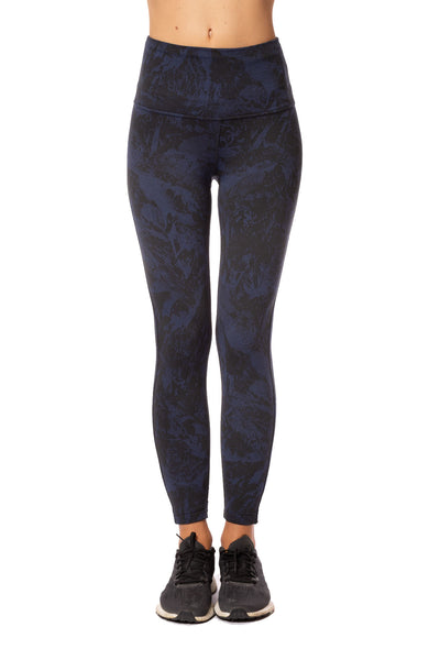 Lolë - Mile End Ankle High Waist Legging (LSW3279, Black & Midnight Blue) alt view 1