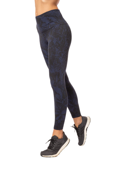 Lolë - Mile End Ankle High Waist Legging (LSW3279, Black & Midnight Blue) alt view 2