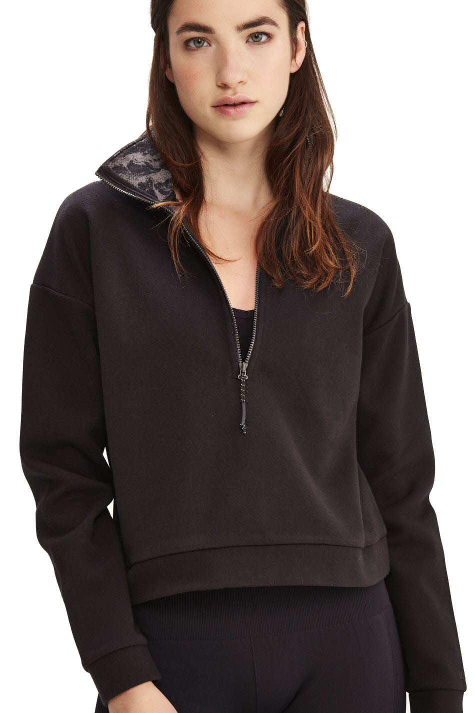 Lolë - Unite Zip Top Pullover  (LSW3326, Black)
