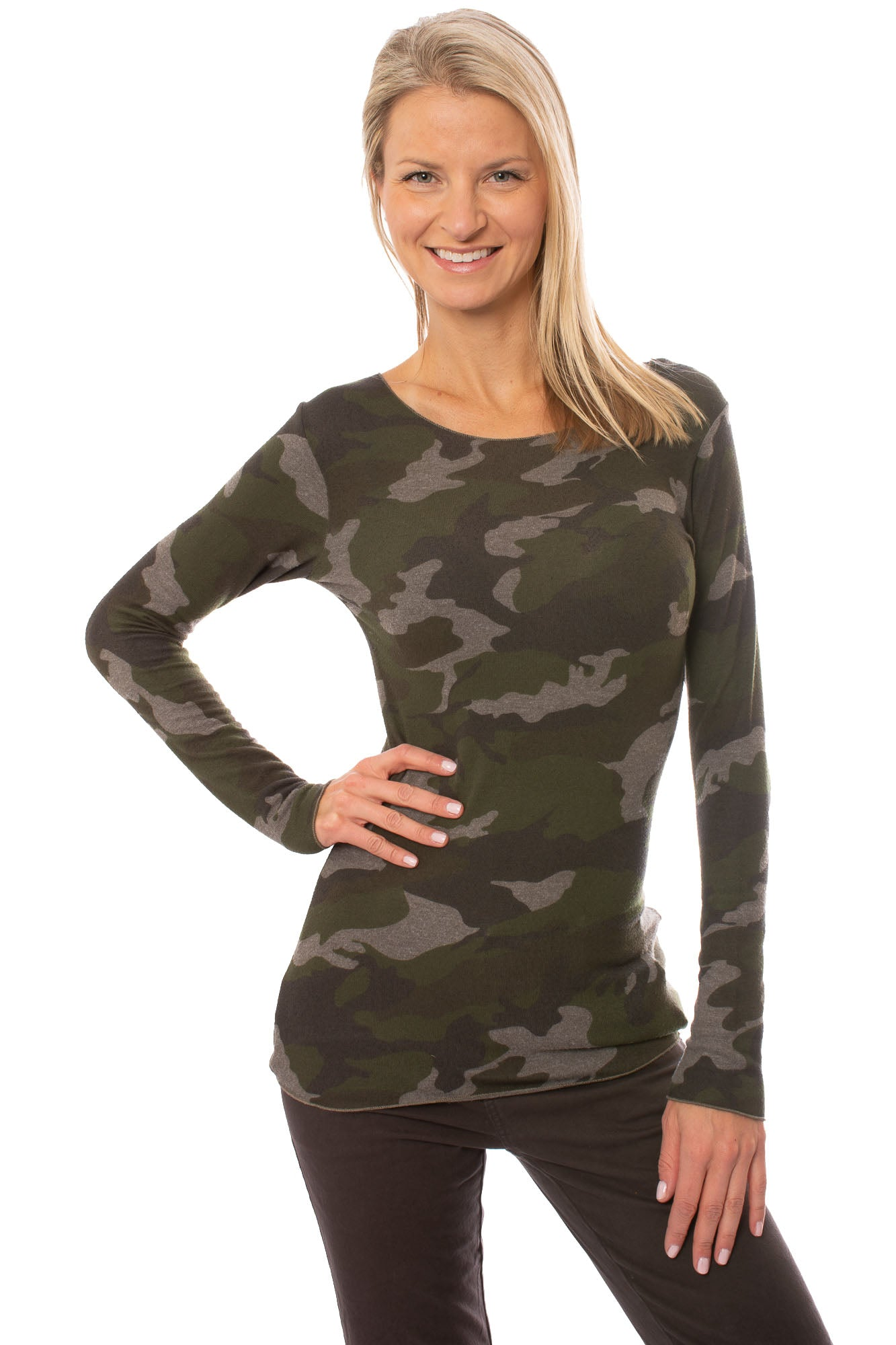 Hard Tail Forever - Camo Long Sleeve T (HACH-03C, Thyme)
