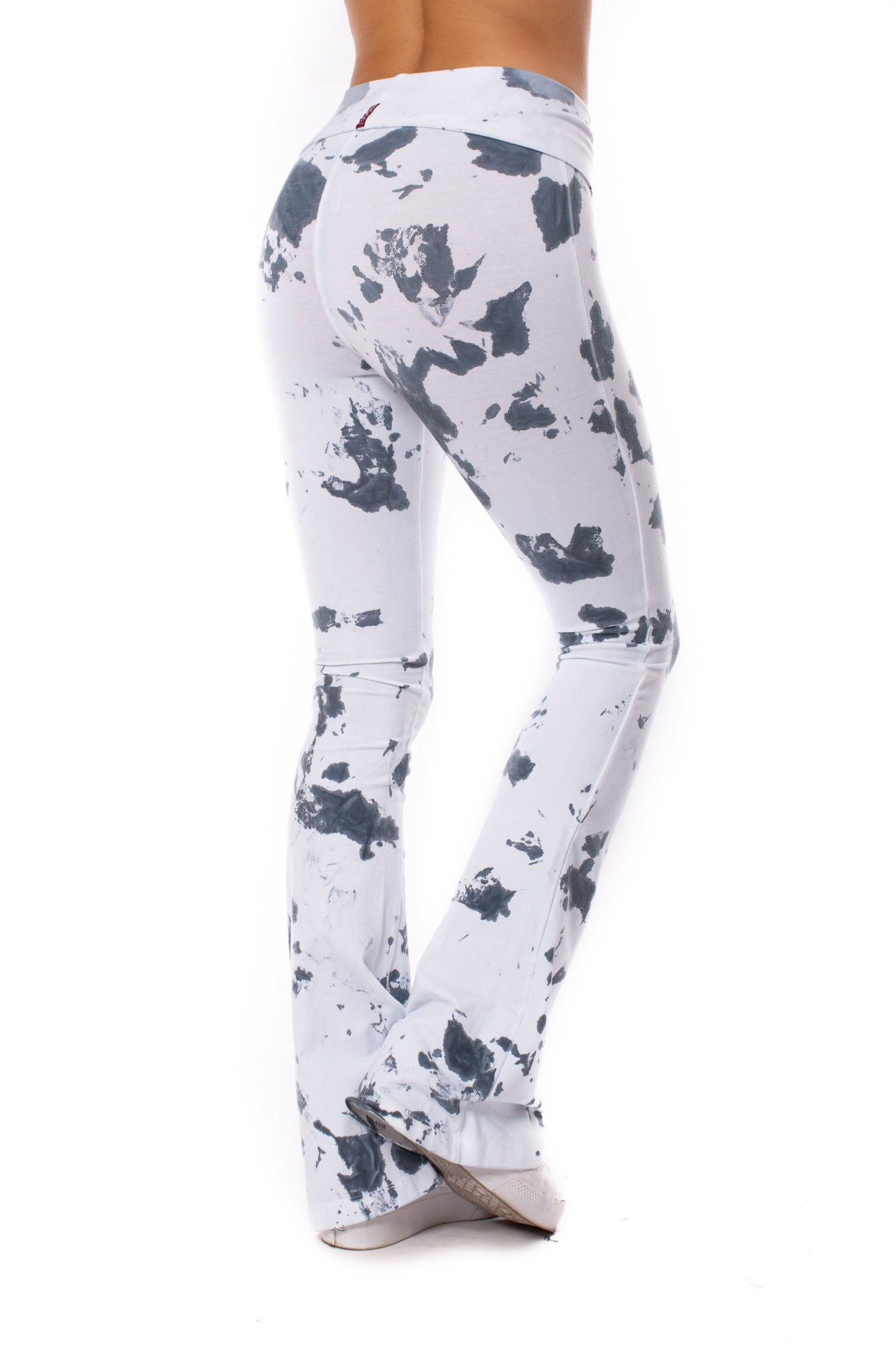 Contour Roll Down Boho Bell Bottom Flare Pant (Style W-598, Tie-Dye VCL2) by Hard Tail Forever