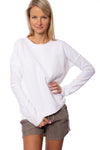 Hard Tail Forever - Crystal Fleece Ribbed Arm Pullover (CRY-03, White)