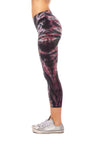 Hard Tail Forever - High Rise Capri Legging (W-614, Tie-Dye TTS1) alt view 1