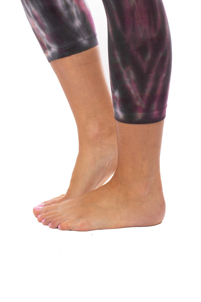 Hard Tail Forever - High Rise Capri Legging (W-614, Tie-Dye TTS1) alt view 5