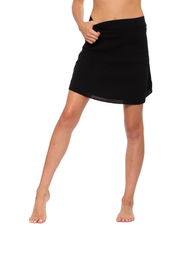 Crinkle Short Skirt (Style CRIN-05, Black) by Hard Tail Forever