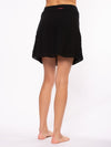 Crinkle Short Skirt (Style CRIN-05, Black) by Hard Tail Forever alt view 1