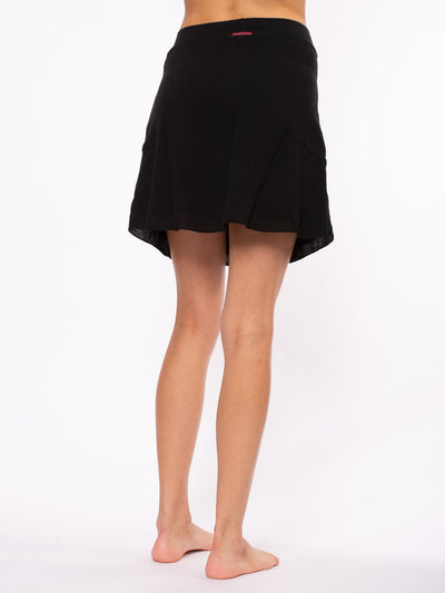 Hard Tail Forever - Crinkle Short Skirt (CRIN-05, Black) alt view 1