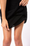 Crinkle Short Skirt (Style CRIN-05, Black) by Hard Tail Forever alt view 3