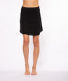 Crinkle Short Skirt (Style CRIN-05, Black) by Hard Tail Forever alt view 4