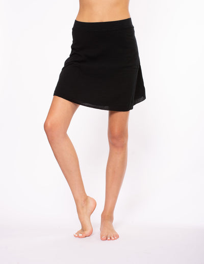 Hard Tail Forever - Crinkle Short Skirt (CRIN-05, Black) alt view 7