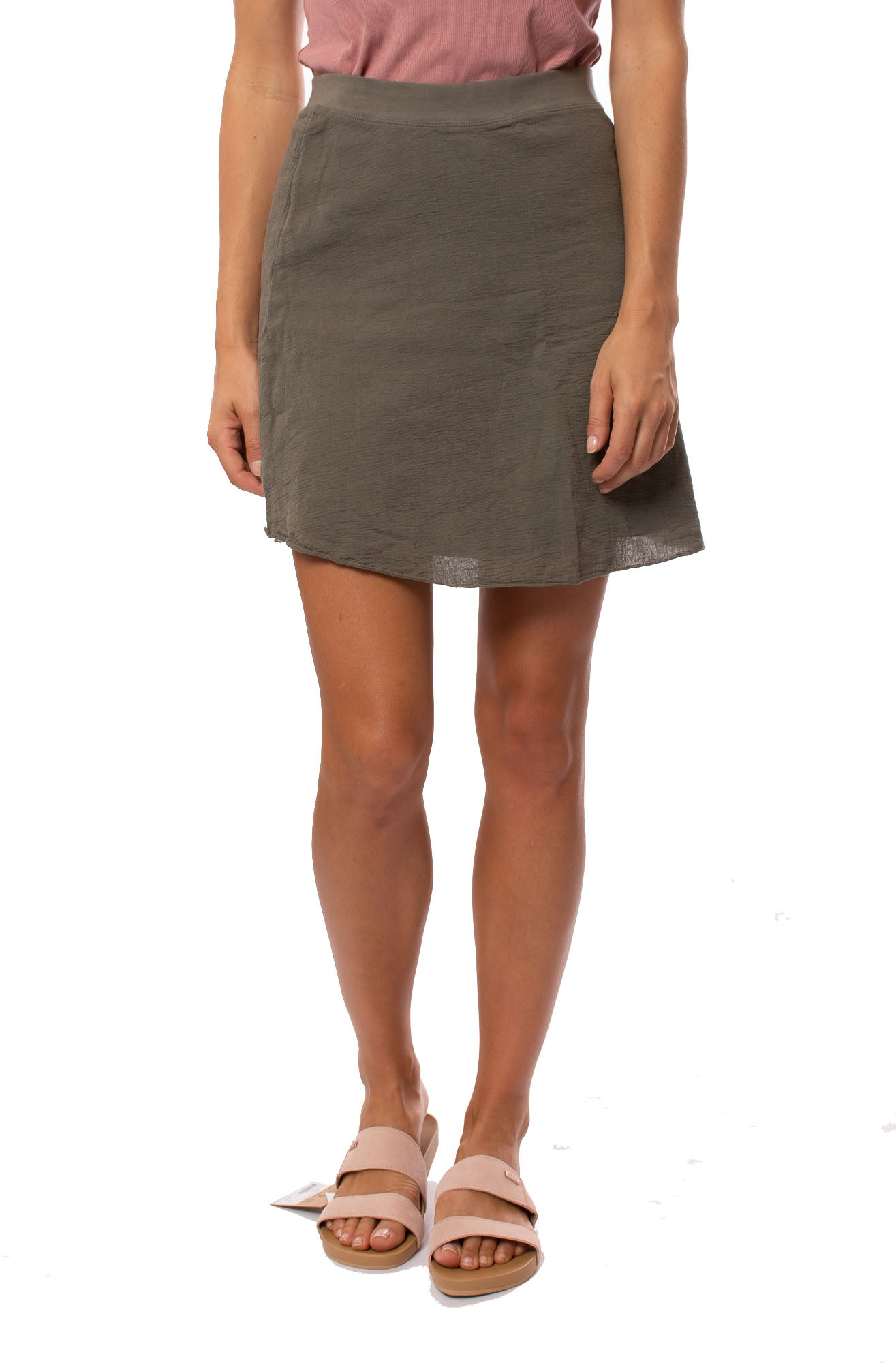 Hard Tail Forever - Crinkle Short Skirt (CRIN-05, Gravel)
