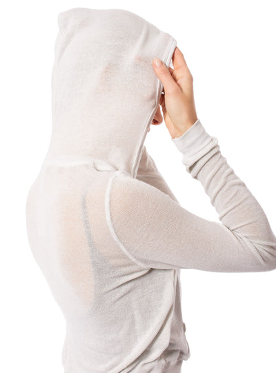 Hard Tail Forever - Double Zip Front Crop Hoodie W/Pockets (BIRD-27, Clay) alt view 4