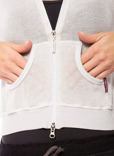 Hard Tail Forever - Double Zip Front Crop Hoodie W/Pockets (BIRD-27, Clay) alt view 6