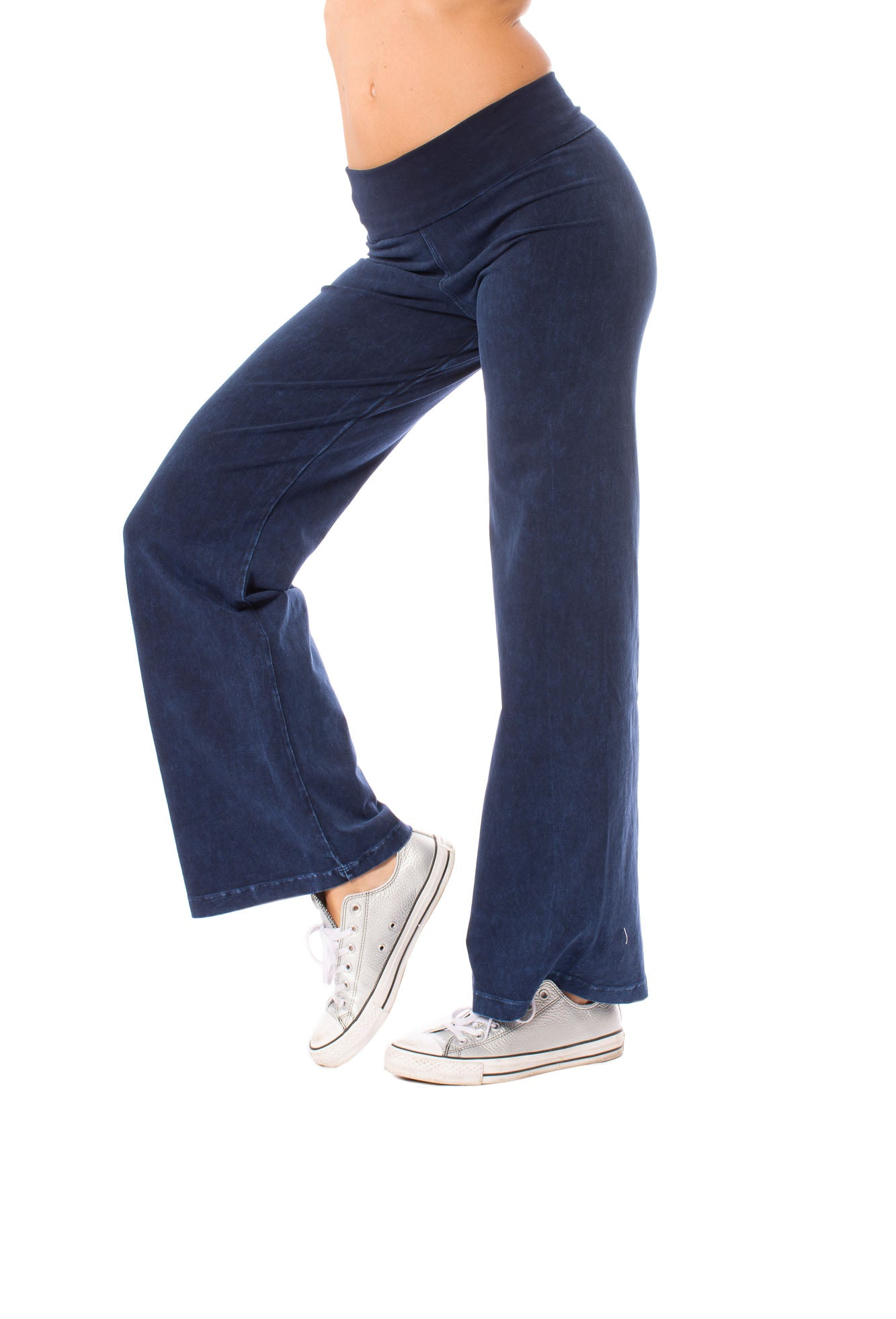 Hard Tail Forever - Wide Leg Roll Down Pants (W-326, Mineral Wash MW8)