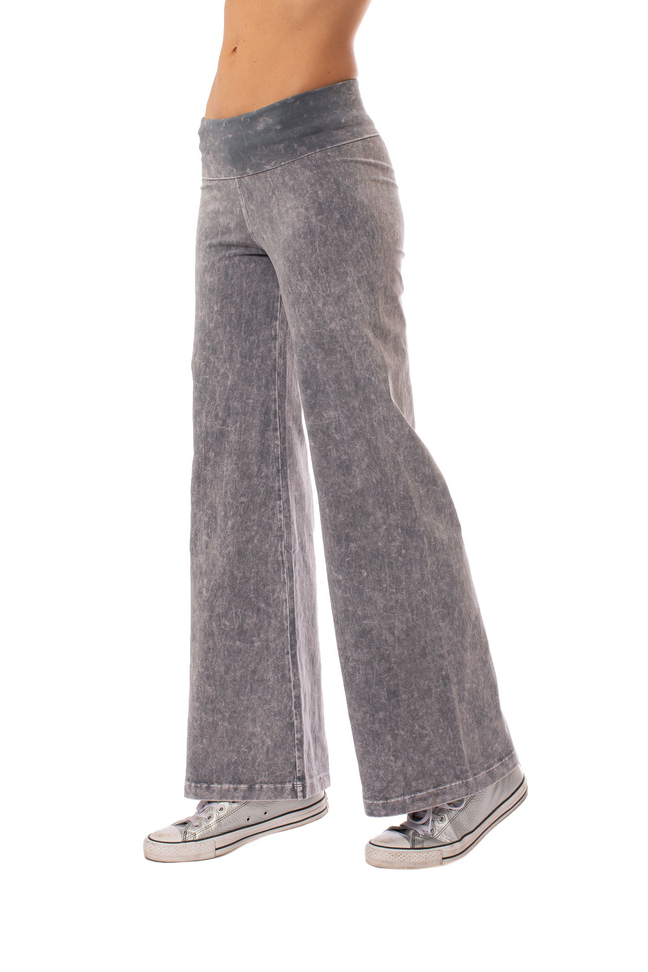 Hard Tail Forever - Wide Leg Roll Down Pants (W-326, Mineral Wash MW11)